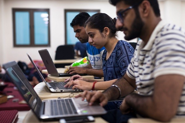 Indian students are thought to be particularly vulnerable as they might have nowhere to go if campuses close.(Photo: XAVIER GALIANA/AFP/Getty Images)