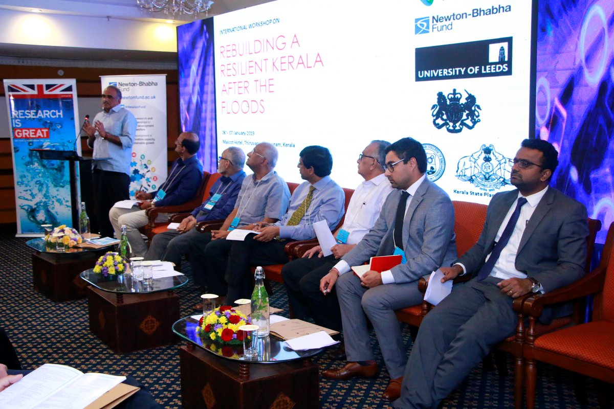 The workshop focussed on bringing academia, industry, and government agencies together with a common interest in rebuilding Kerala for a resilient future (Photo: @UKinIndia/Twitter).