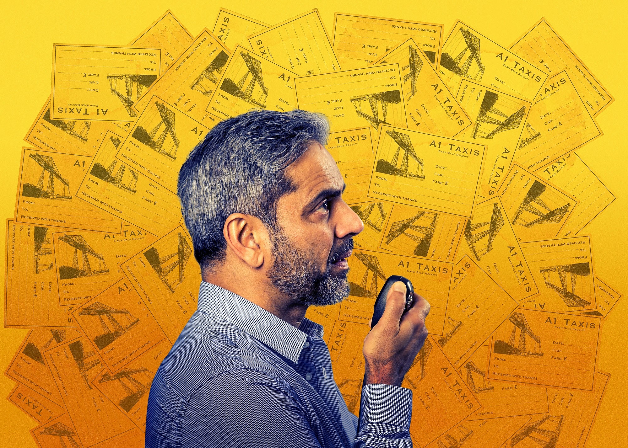 DRIVING AMBITION: Ishy Din's latest play based in a northern taxi office is premiering in London this month