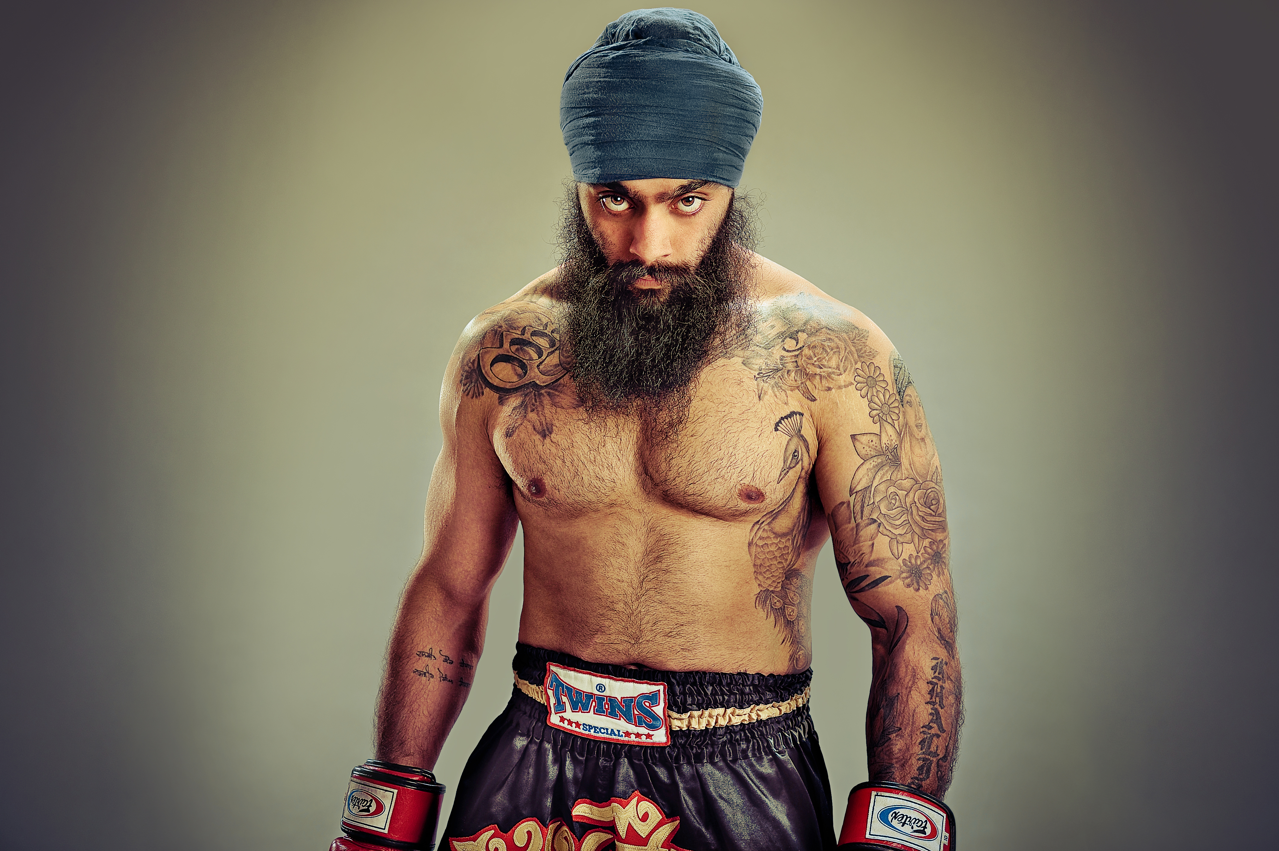 PRIDE OF PLACE: Kickboxer Kanwar Singh is one of the subjects in Turbans and Tales, a new book by award-winning photographers Amit and Naroop