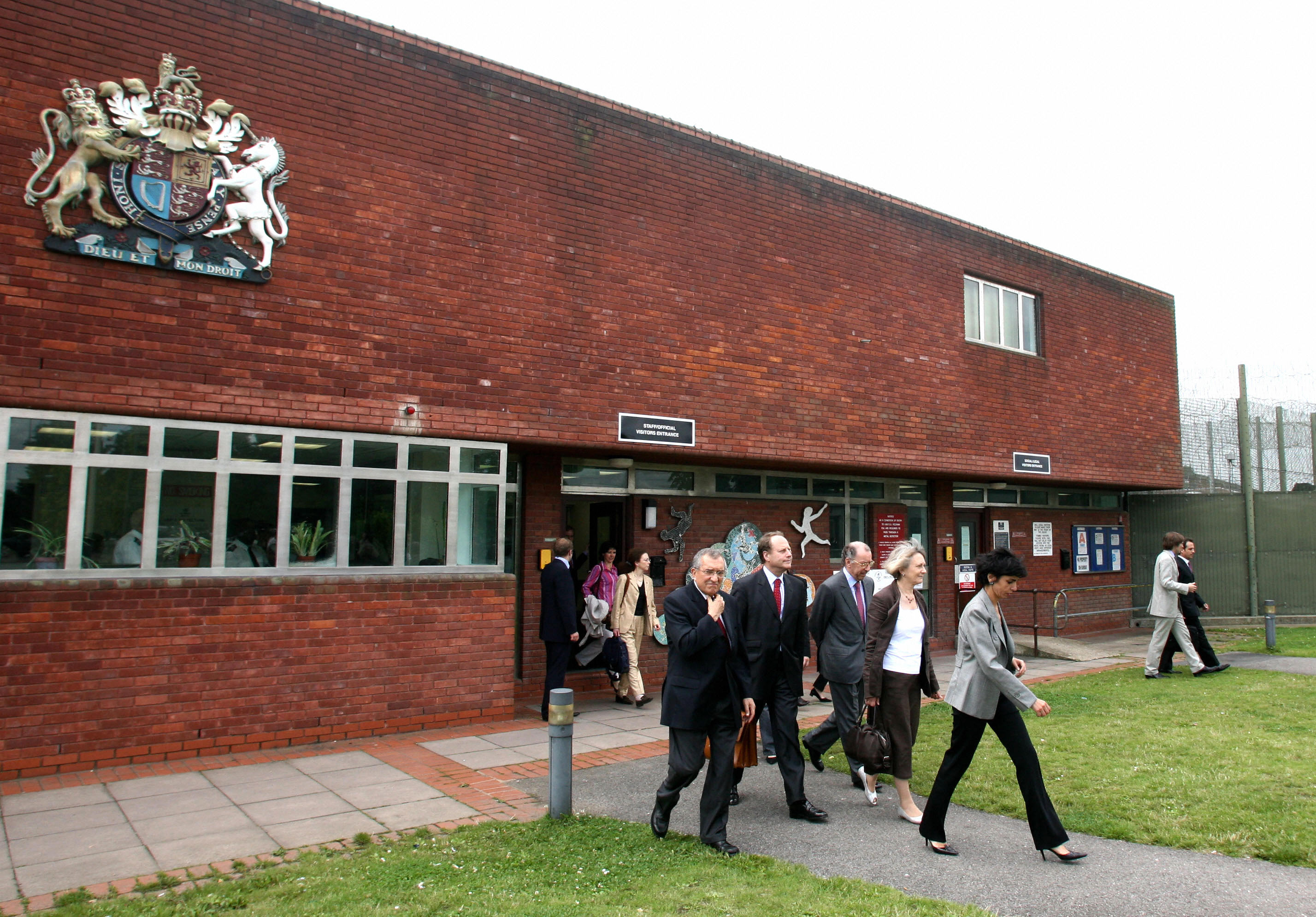 French Justice Minister Rachida Dati (R) leaves the Feltham Young Offenders Institute in south west London, 27 July 2007, following a visit to the youth prison with the British Chief Inspector of Prisons Anne Owers (2R). (Photo: Chris Young/AFP/Getty Images)