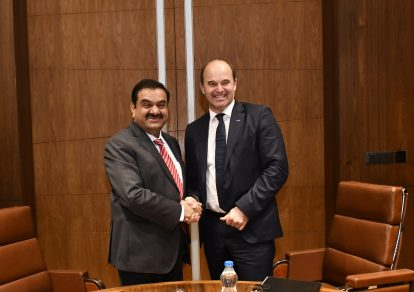 Dr. Martin Brudermüller (right), Chairman of the Board of Executive Directors, BASF SE and Gautam Adani, Chairman of the Adani Group, signed a MoU to evaluate a joint investment in the acrylics value chain in Mundra, India.