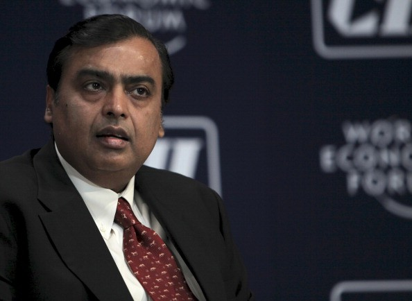 Ambani, 61, has been drip-feeding his e-commerce plans for India over the past few months in announcements that are no doubt being keenly watched by US giants Amazon and Walmart (Photo: Adeel Halim/Bloomberg via Getty Images).