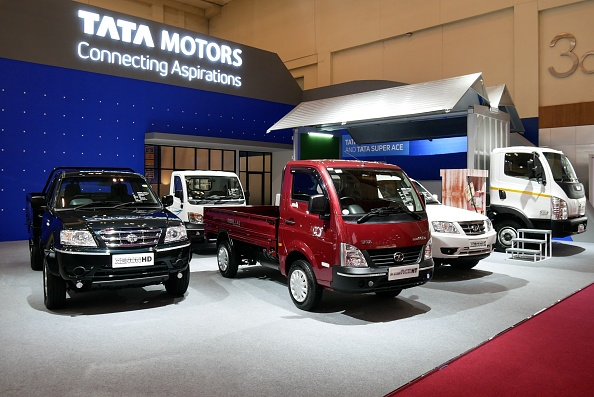 BANTEN, INDONESIA - AUGUST 03: Tata MOtors cars are displayed at GAIKINDO Indonesia International Auto Show 2018 at Indonesia Convention Exhibition  (ICE), Banten in Indonesia on August 3, 2018. This exhibition was organized by the Association of Indonesian Automotive Industries (GAIKINDO) which took place on August 2nd to 12th, 2018. (Photo by Anton Raharjo/Anadolu Agency/Getty Images)