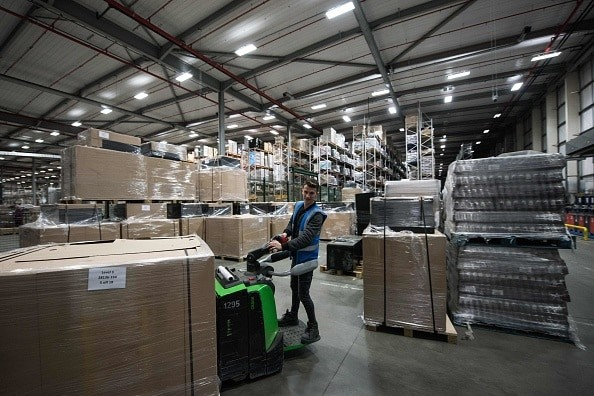 India was one among the two non-EU countries where exports from the UK recorded a growth last year, after Nigeria, whose imports from the UK moved up by 29.9 per cent (Photo credit should read OLI SCARFF/AFP/Getty Images).