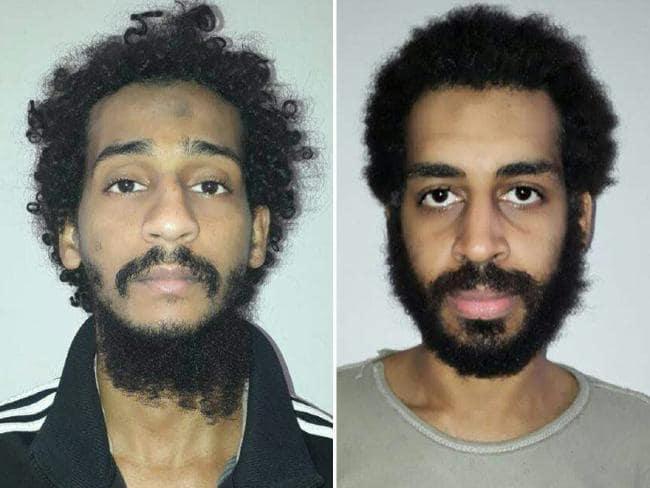 UK jihadists Shafee El-Sheik (L) and Alexanda Kotey (R