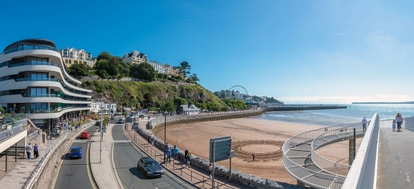 House prices in the south-west of England, such as in Torquay, Devon, are more or less similar to the previous year