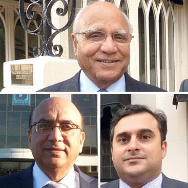 Sir Anwar & Dawood Pervez & Zameer Choudrey
