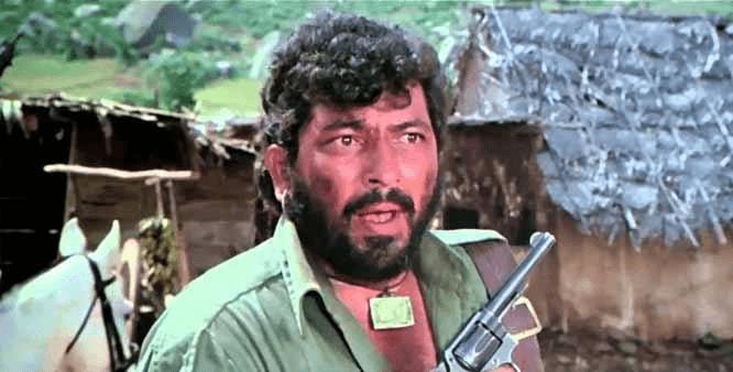 Amjad Khan as Gabbar Singh in Sholay