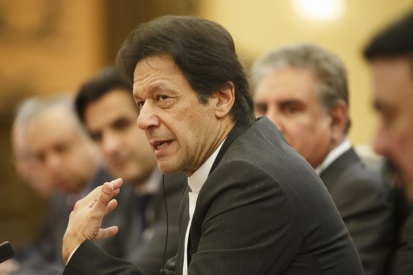 Pakistani prime minister Imran Khan  (Photo by Thomas Peter-Pool/Getty Images)