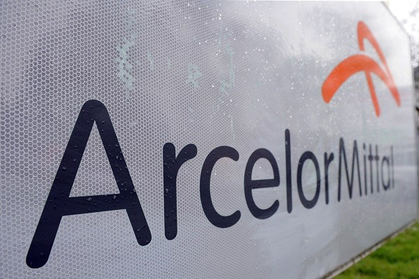 FILE PHOTO: Logo of ArcellorMittal (Photo: JEAN-CHRISTOPHE VERHAEGEN/AFP/GettyImages).