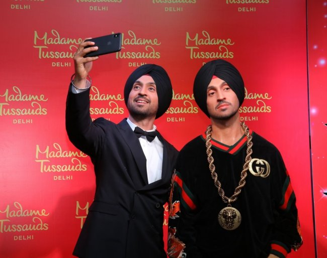 Diljit Dosanjh launching his wax figure at Madame Tussauds, Delhi