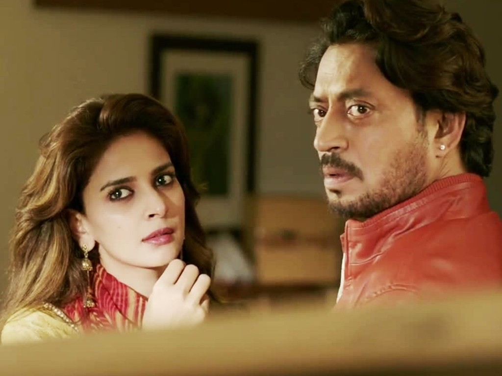 Irrfan Khan & Saba Qamar in a still from the movie Hindi Medium