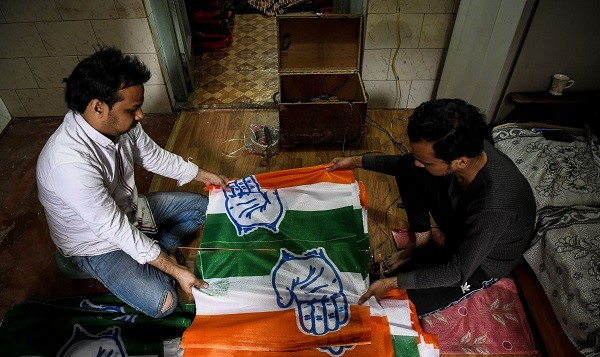 Cartoons posted on BJP-run Facebook pages, Twitter handles and WhatsApp groups are shared hundreds of times and reach millions, Bhalerao said as he worked in his apartment in the western city of Pune (Photo: CHANDAN KHANNA/AFP/Getty Images).