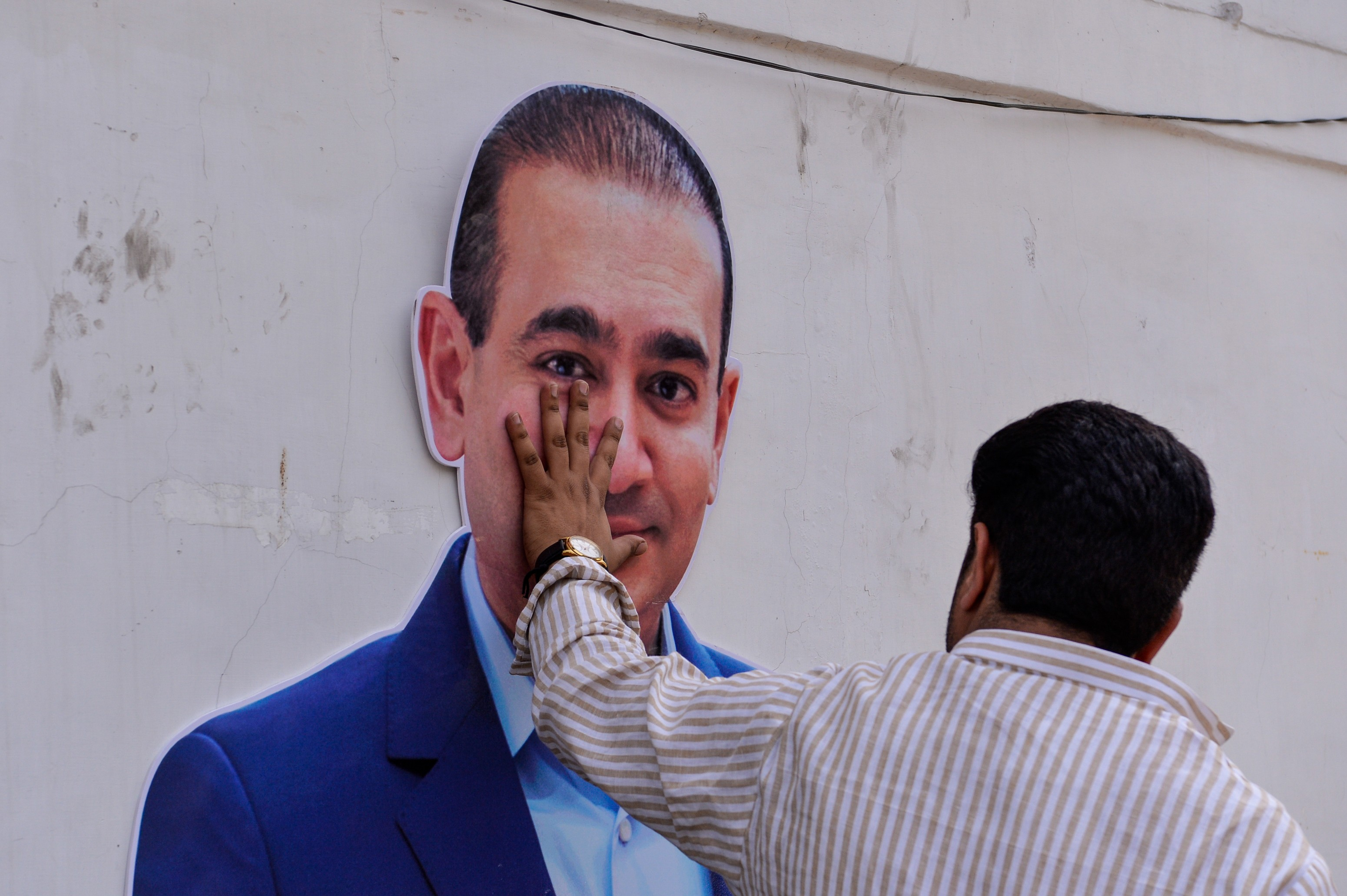 Fighting extradition: Billionaire jeweller Nirav Modi is accused of defrauding one of India's biggest banks. AFP photo/ Chandan Khanna /Getty Images