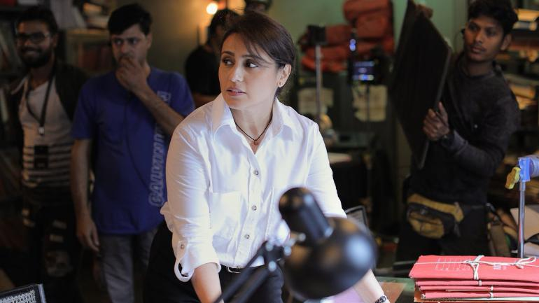 Rani Mukerji on the sets of Mardaani 2