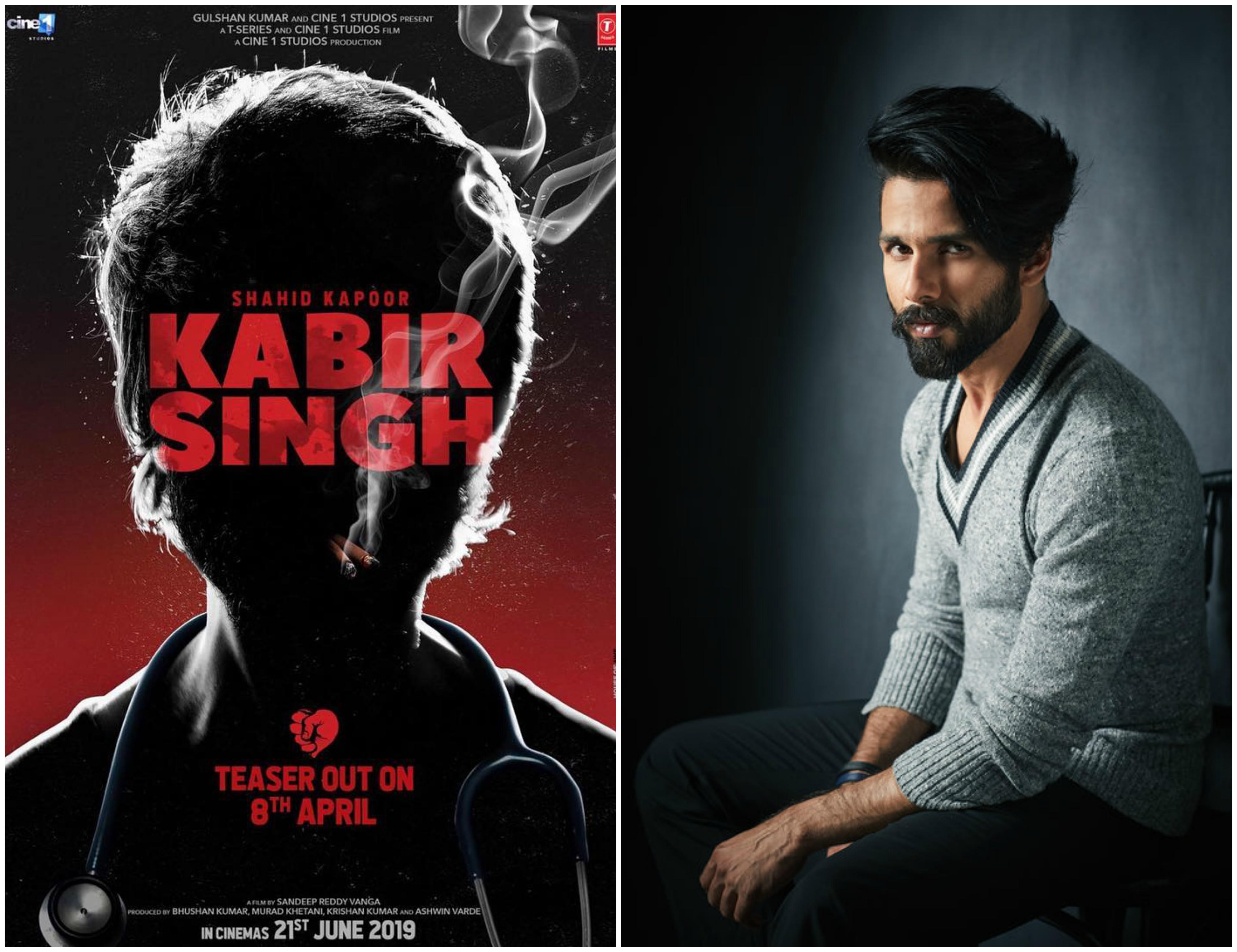 Teaser poster of Kabir Singh starring Shahid Kapoor