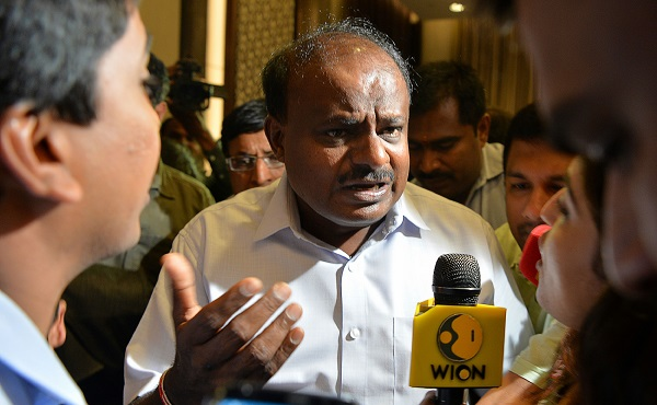 The party's leader, who is also Karnataka's chief minister, H D Kumaraswamy, said he was deeply pained by the loss (Photo of H D Kumaraswamy by MANJUNATH KIRAN/AFP/Getty Images).