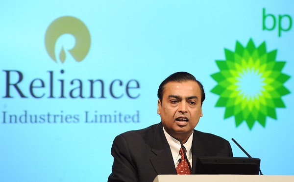 """Focus on service and customer satisfaction led to higher numbers of subscribers and footfalls across our consumer businesses, driving robust revenue growth,"" Reliance chairman Mukesh Ambani said in a statement (Photo: BEN STANSALL/AFP/Getty Images)."