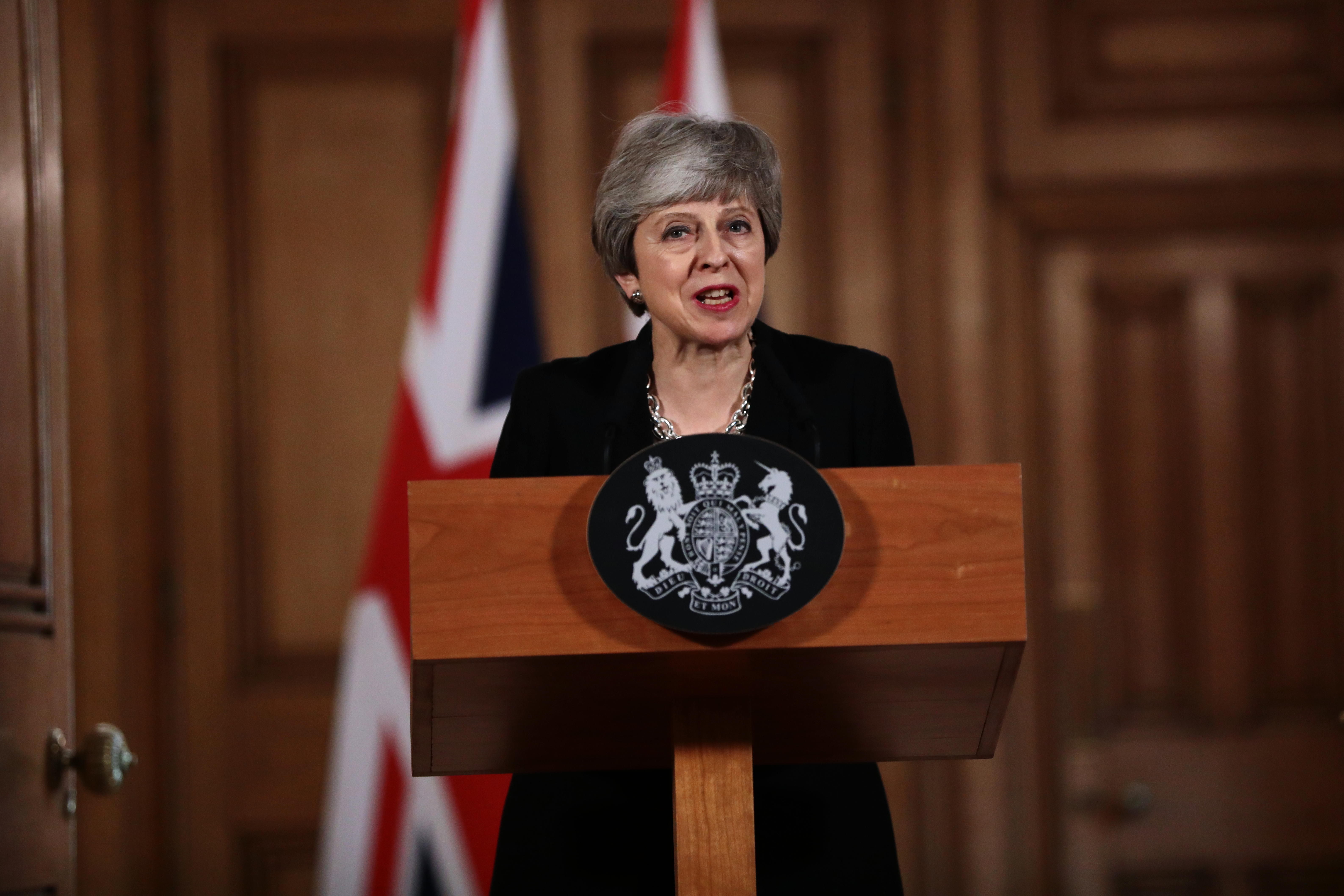 Brexit deadlock: UK prime minister Theresa May gives a press conference addresses the nation from Downing Street on Tuesday (April 2)  (by Jack Taylor/Getty Images)