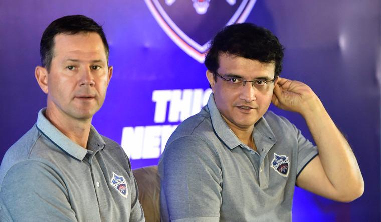 Delhi Capitals coach Ricky Ponting and adviser Sourav Ganguly