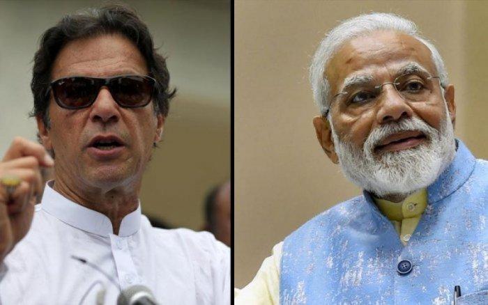 Imran Khan (left) and Narendra Modi