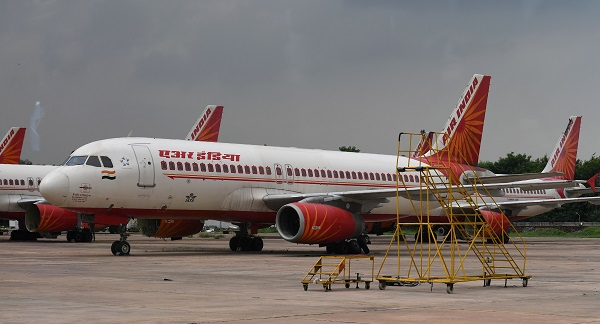 The AI162 flight to New Delhi left earlier in the day and AI130 to Mumbai left in the afternoon following a nearly 48-hour delay (Photo: SAJJAD HUSSAIN/AFP/Getty Images).