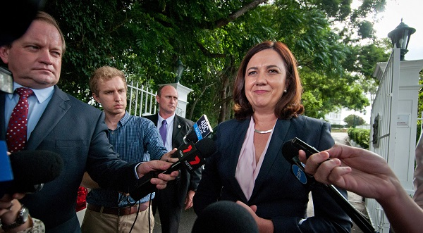 Speaking at a press conference, Queensland premier Annastacia Palaszczuk announced she would appoint her coordinator-general to oversee approvals of the mine (Photo: Robert Shakespeare/Getty Images).