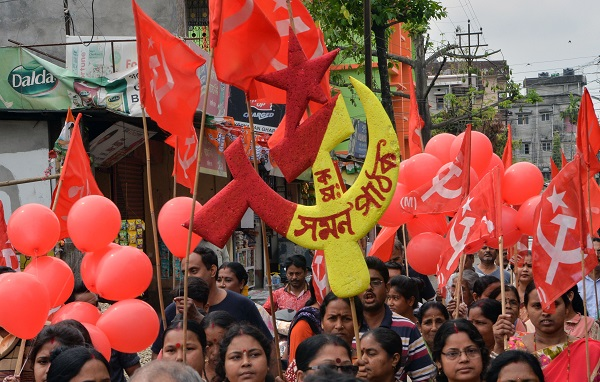 From 61 parliamentary seats and a key role in a coalition government formed in 2004, the Communist Party of India (Marxist) and its hard left allies slumped to just 10 seats in the 2014 election (Photo: DIPTENDU DUTTA/AFP/Getty Images).