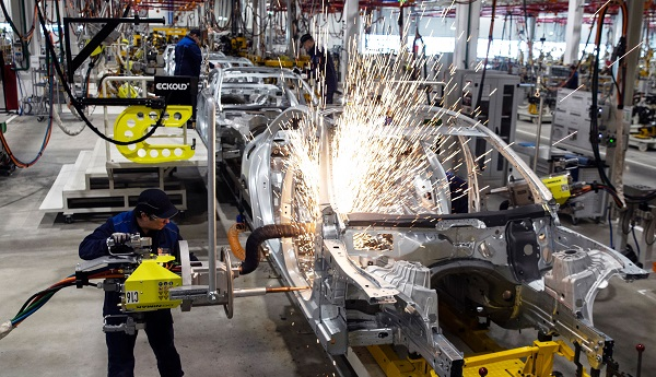"Car factories shut down last month to sidestep the risk of supply chain disruption from a potentially chaotic ""no-deal"" Brexit on March 29, the original date for Britain's departure from the European Union (Photo: PAVEL GOLOVKIN/AFP/Getty Images)."