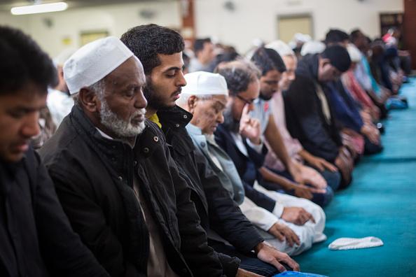 Men attend the first Friday prayers of the Islamic holy month of Ramadan at the East London Mosque. (Photo by Rob Stothard/Getty Images)