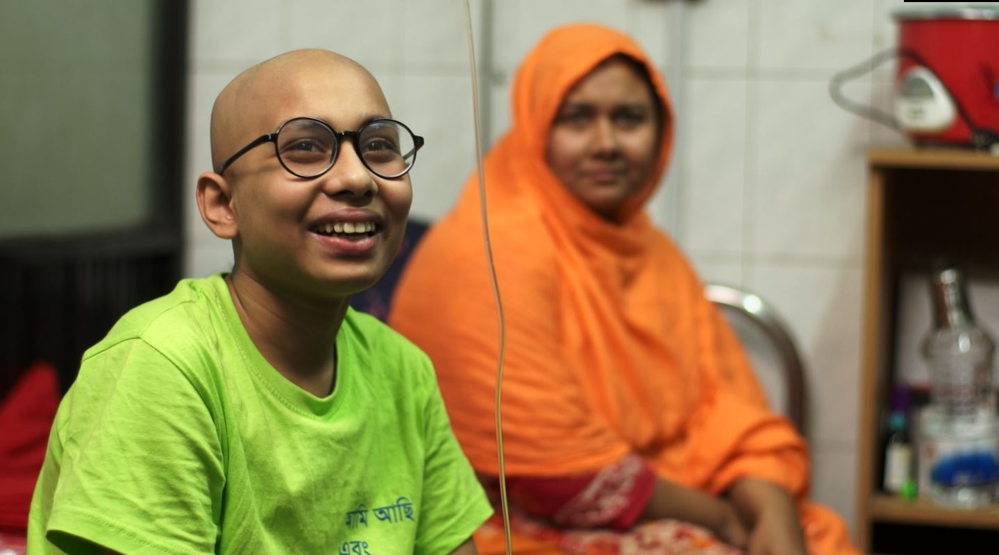 PLEDGING HELP: UK charity World Child Cancer have been supporting teenager Adil and his mother since he was diagnosed with blood cancer