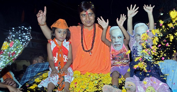 Pragya Thakur, contesting from the central city of Bhopal for prime minister Narendra Modi's Bharatiya Janata Party (BJP), is the first person accused of terrorism to be fielded by a major political group in India (Photo: REUTERS/Raj Patidar).