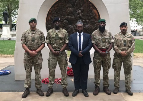 Corporal Sohail Ifraz, Private Abubakarr Mahmoud, imam Ali Omar, Sergeant Dorian Mark John, and Major Naveed Muhammed