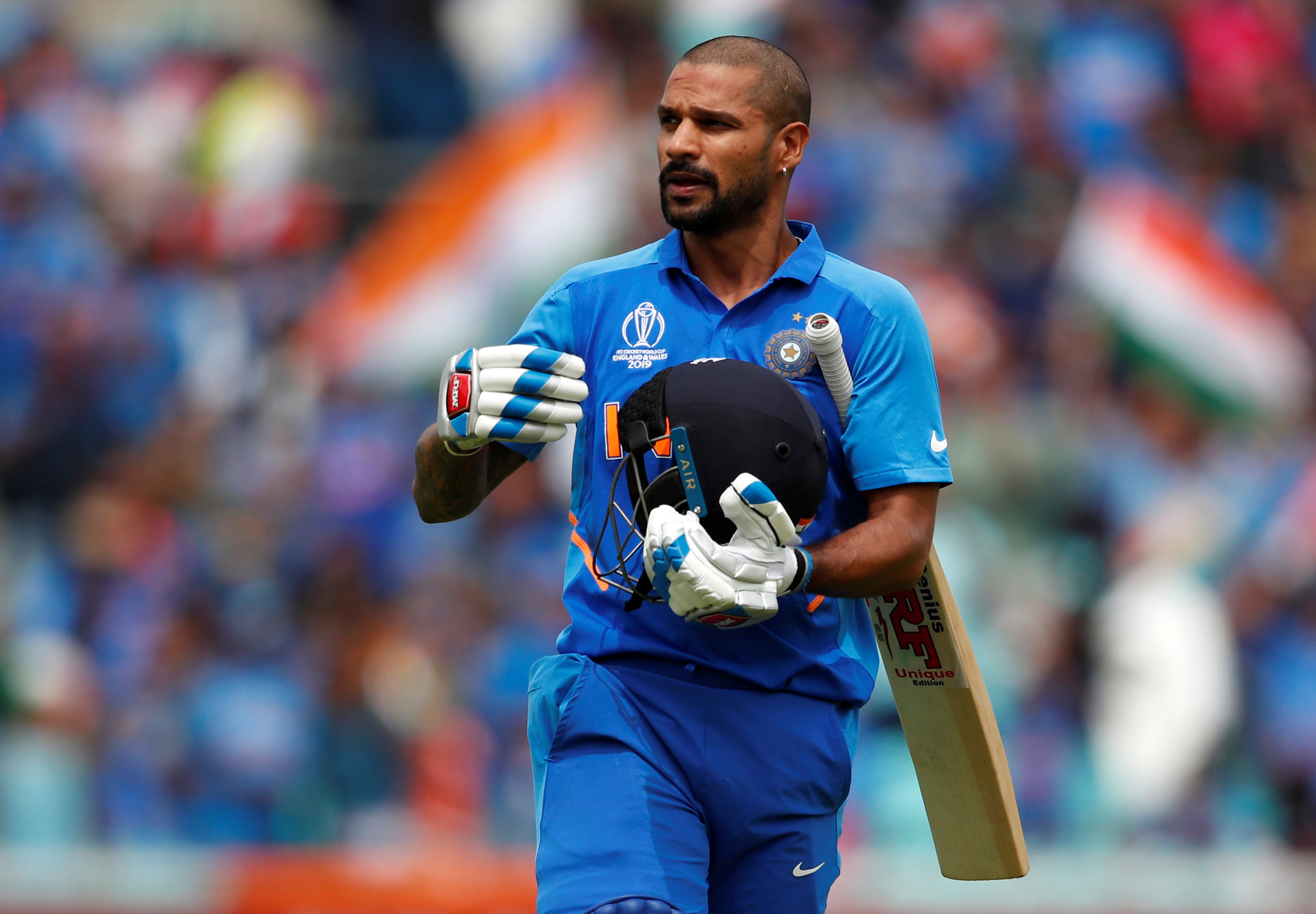 India's Shikhar Dhawan Action Images via Reuters/Andrew Boyers