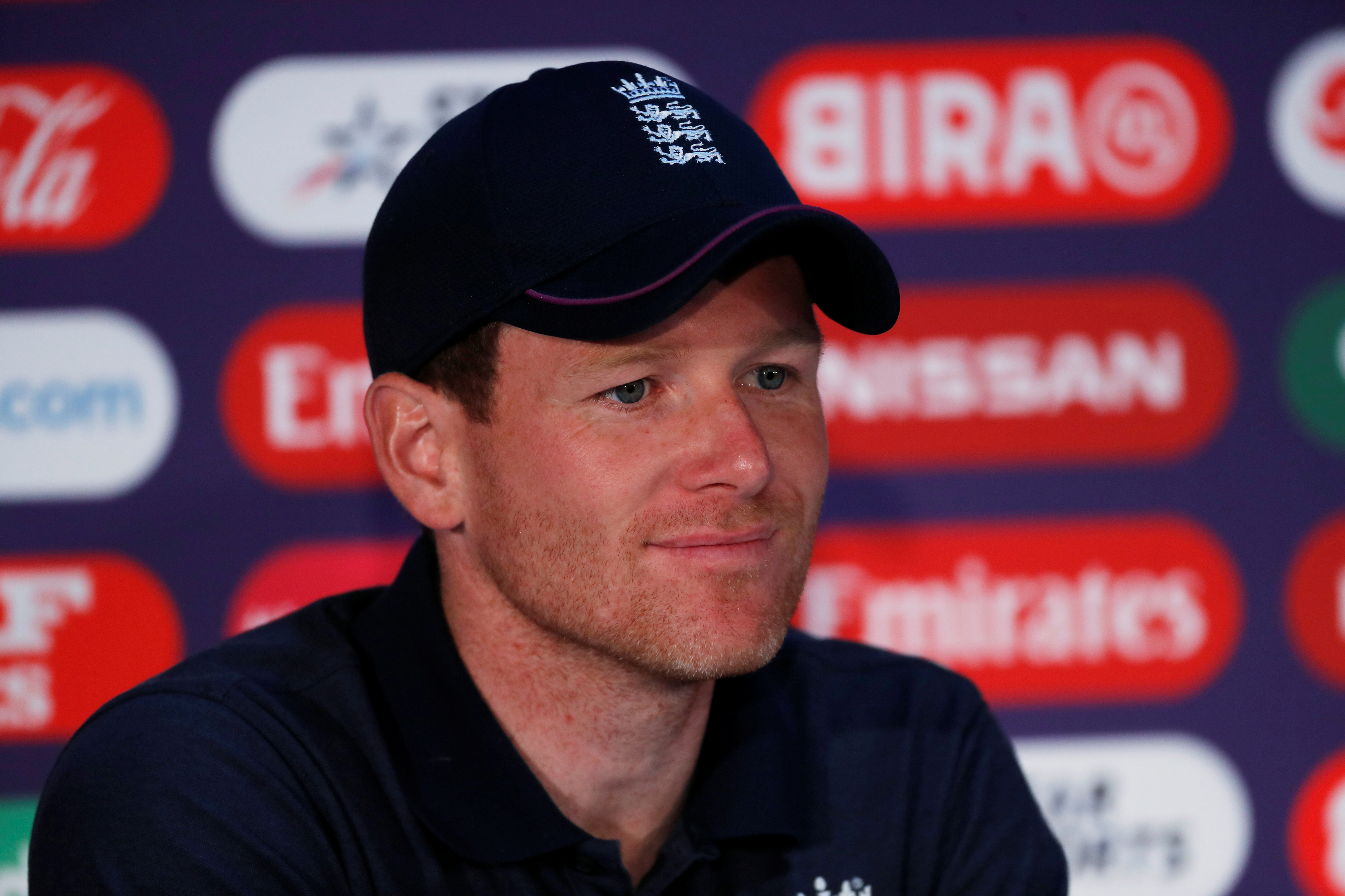 Eoin Morgan during the press conference    Action Images via Reuters/Paul Childs