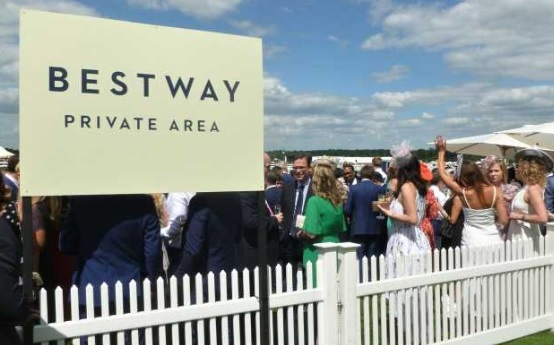 Bestway's guests at Royal Ascot certainly did. This year they had a good view of the royal family from an enclosed private area right next to the racecourse.