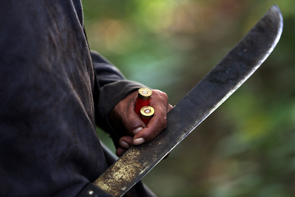 A man died after he was hit with a machete in a mass brawl between warring families. (Photo by Ezra Shaw/Getty Images)