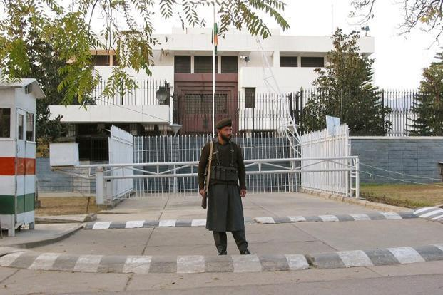 The Indian High Commission building in Islamabad. Photo: AFP