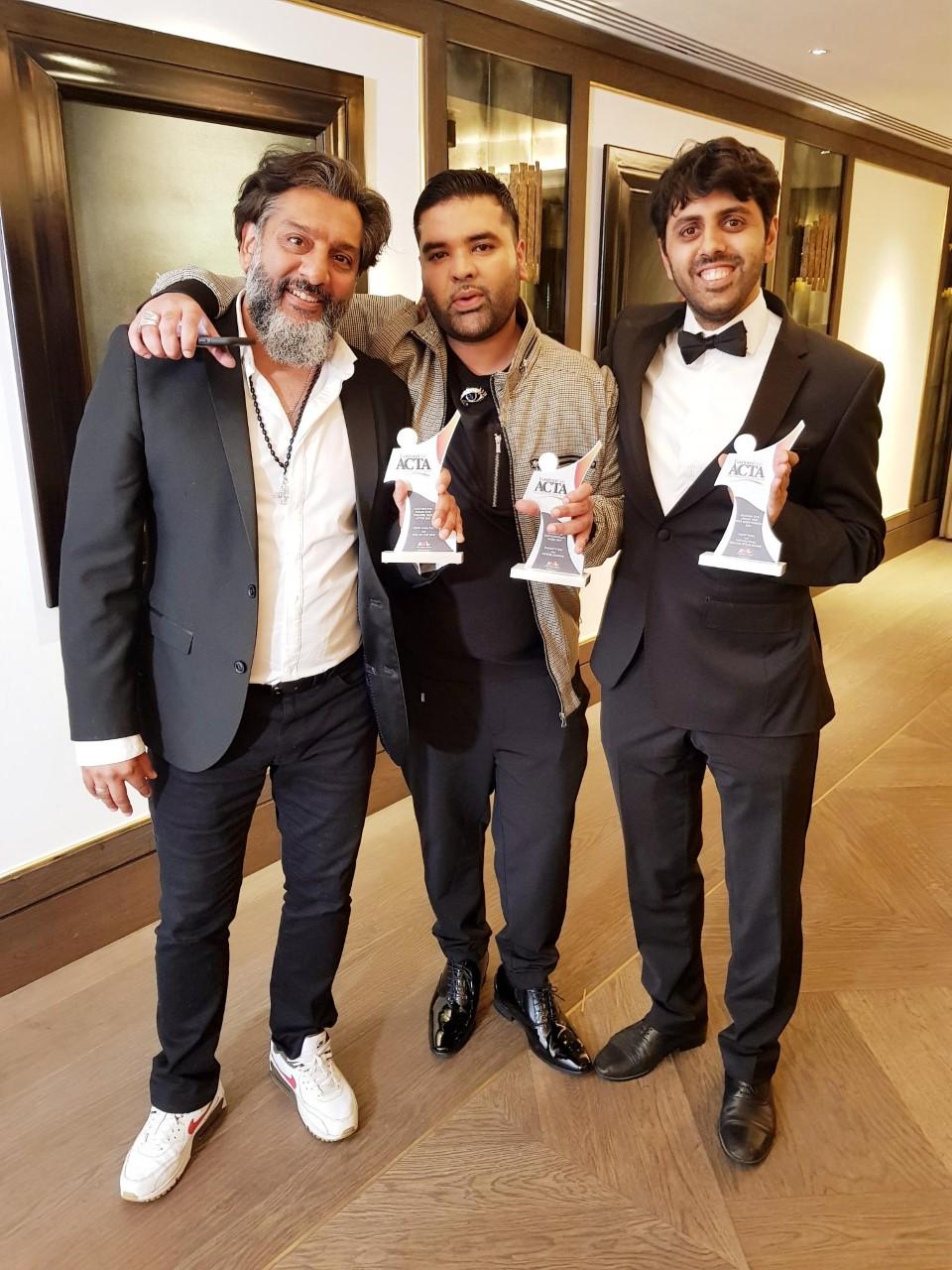 Terrific trio: (from left) Nitin Ganatra, Naughty Boy and Vinay Patel