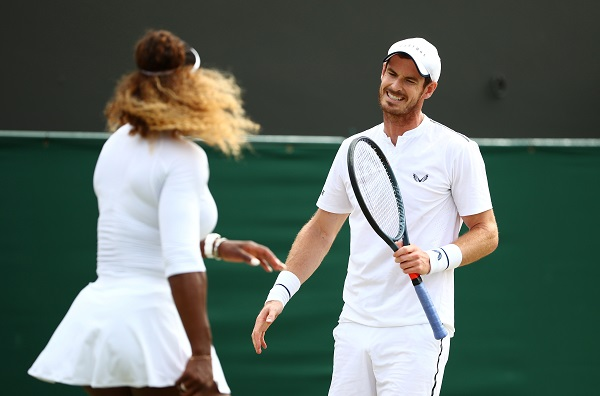 Tennis - Wimbledon - All England Lawn Tennis and Croquet Club, London, Britain - July 10, 2019 Serena Williams of the US and Britain's Andy Murray during their third round doubles match against Nicole Melichar of the US and Brazil's Bruno Soares (Photo: REUTERS/Hannah McKay).