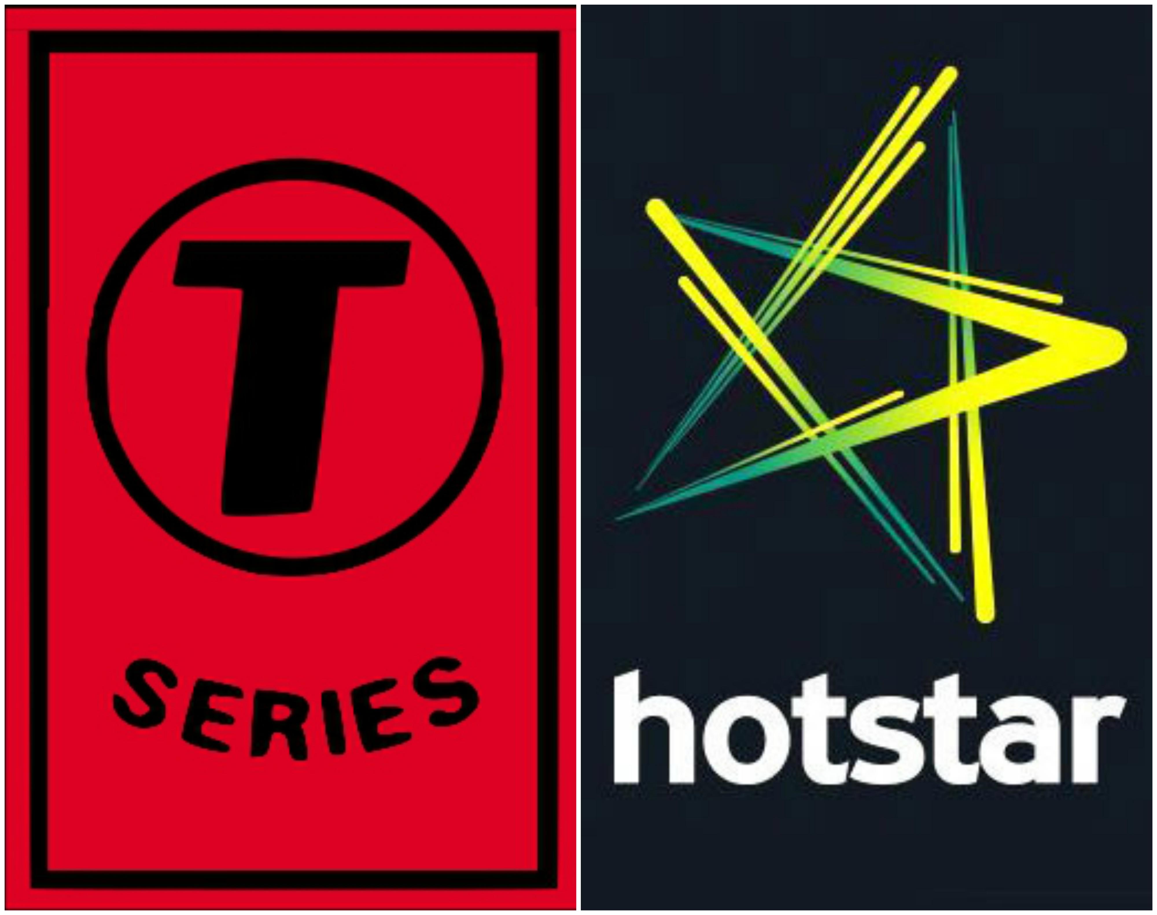 T-Series & Hotstar logos