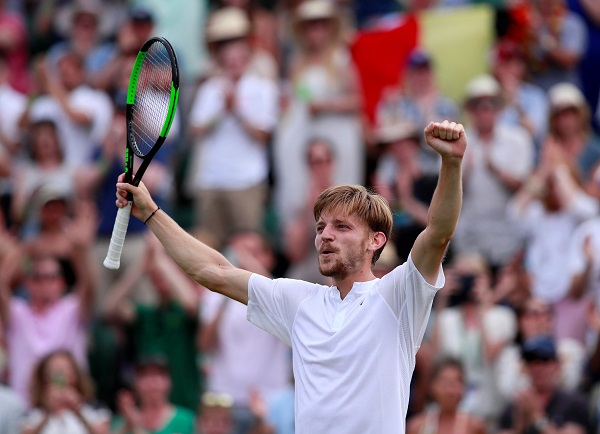 David Goffin will face either world number one Novak Djokovic or Frenchman Ugo Humbert in Wednesday's (10) quarter-finals (Photo: REUTERS/Andrew Couldridge).