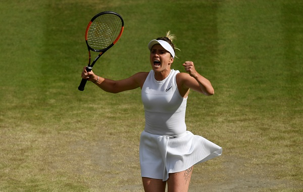 Tennis - Wimbledon - All England Lawn Tennis and Croquet Club, London, Britain - July 9, 2019 Ukraine's Elina Svitolina celebrates winning her quarter final match against Czech Republic's Karolina Muchova (Photo: REUTERS/Tony O'Brien).