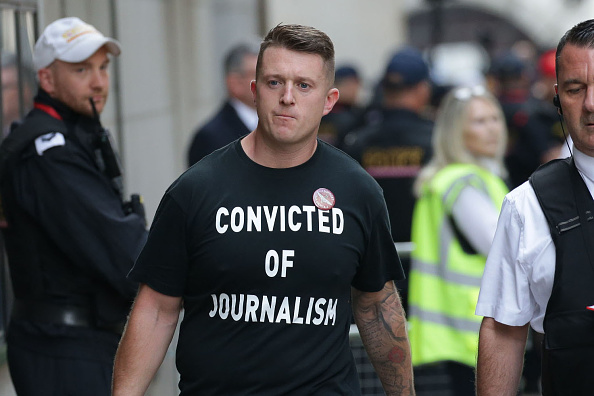 Tommy Robinson arrives at the Old Bailey on July 11, 2019 in London, England.  (Photo by Luke Dray/Getty Images)