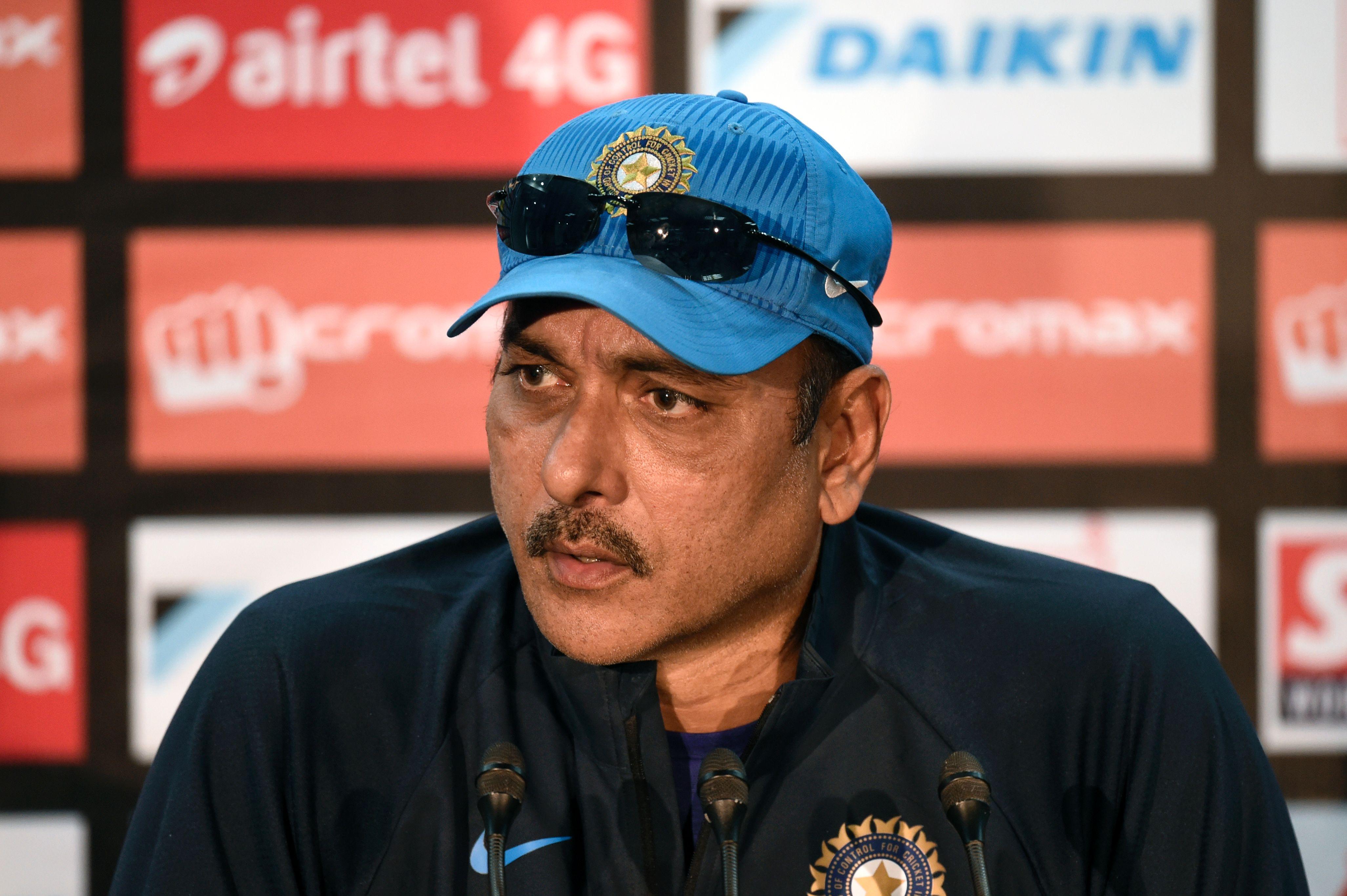 Indian cricket coach Ravi Shastri  (MUNIR UZ ZAMAN/AFP/Getty Images)