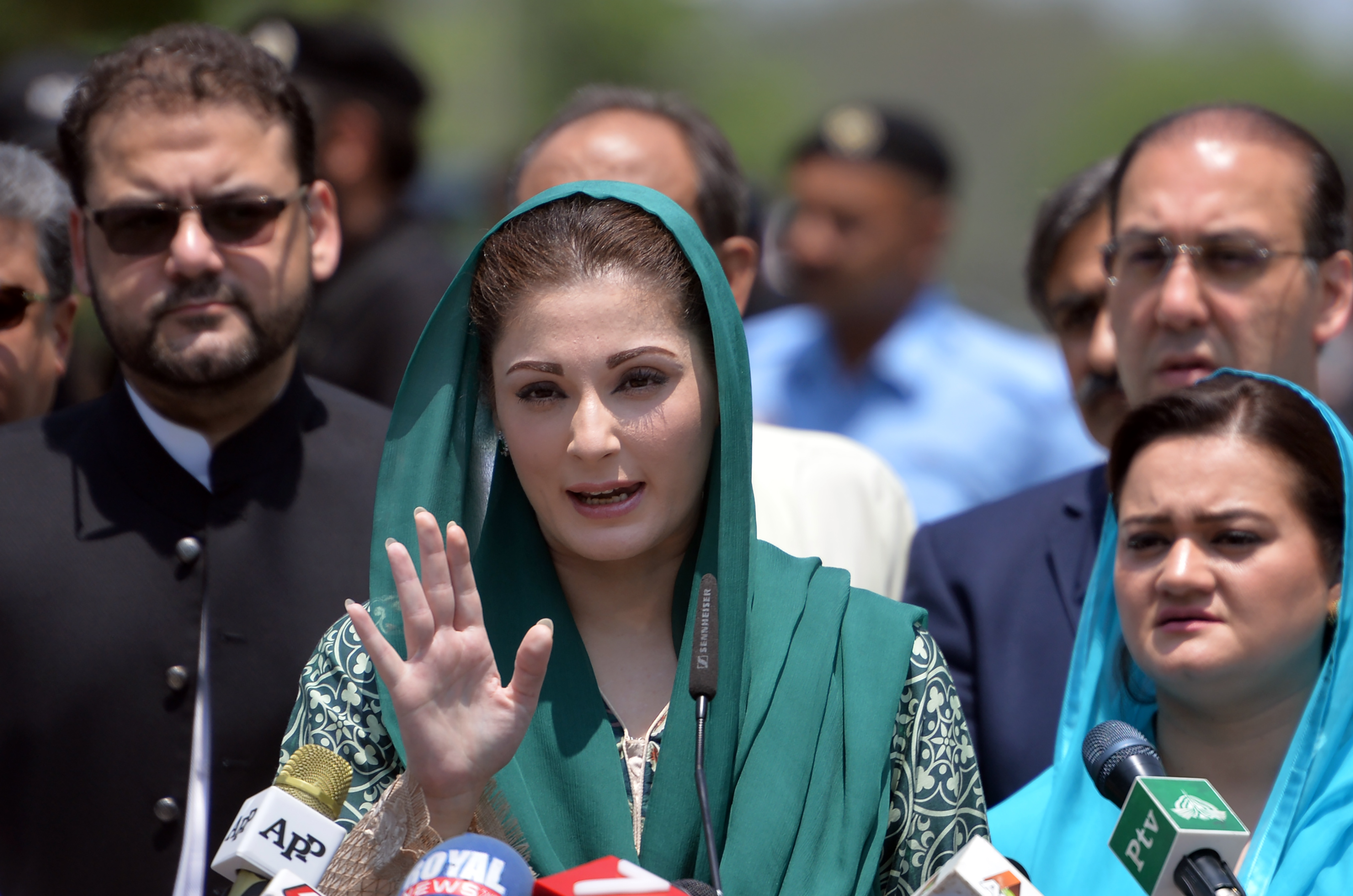 The daughter of Pakistani Prime Minister Nawaz Sharif, Maryam Nawaz (AAMIR QURESHI/AFP/Getty Images)