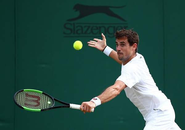 Tennis - Wimbledon - All England Lawn Tennis and Croquet Club, London, Britain - July 8, 2019 Argentina's Guido Pella in action during his fourth round match against Canada's Milos Raonic (Photo: REUTERS/Hannah McKay).