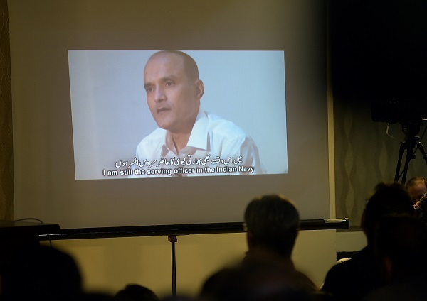 """Jadhav, 49, a retired Indian Navy officer, was sentenced to death by the Pakistani military court on charges of """"espionage and terrorism"""" after a closed trial in April 2017 (Photo: AAMIR QURESHI/AFP/Getty Images)."""