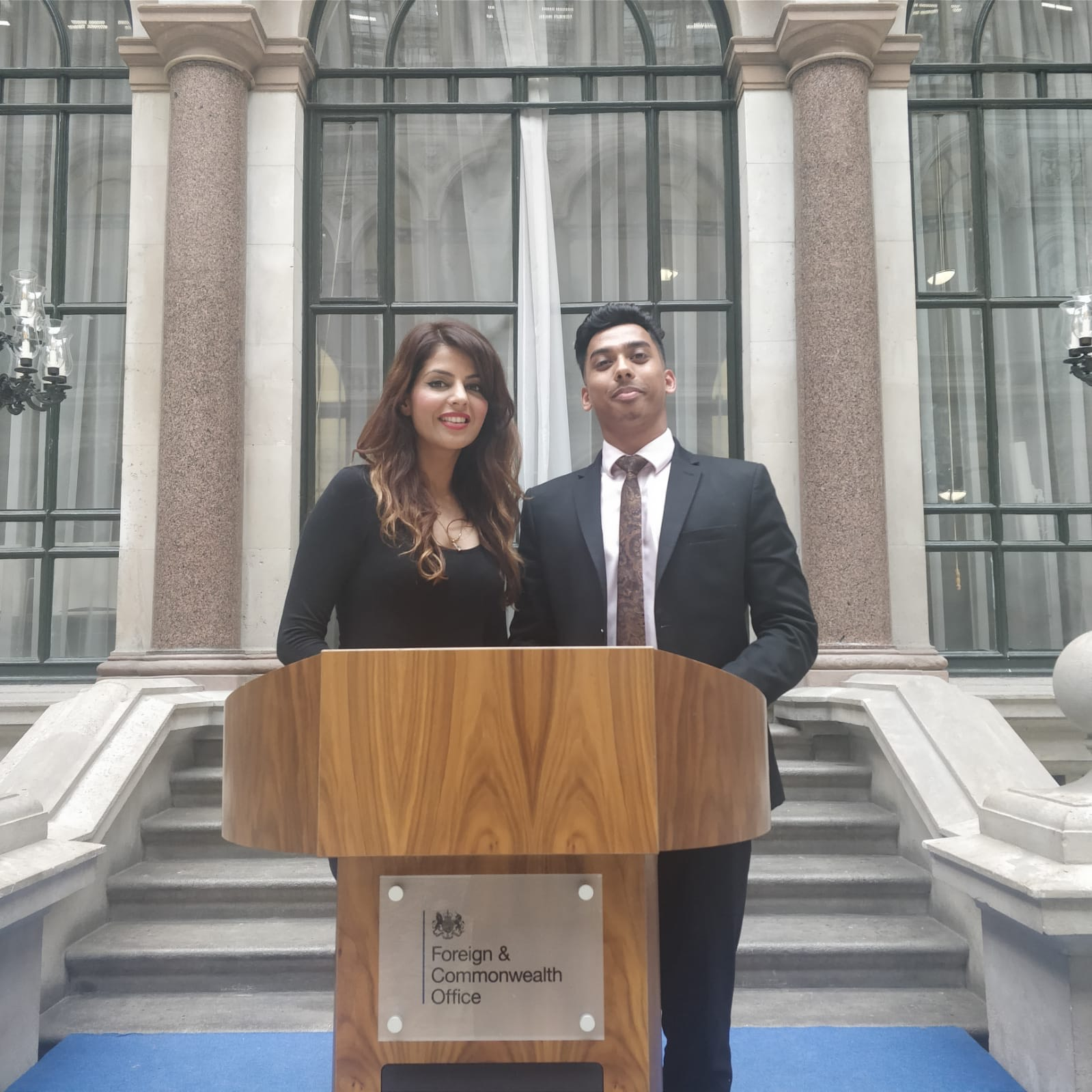 STRUCTURAL REFORM: Samad Chowdhury (right) with his mentor Fouzia Younis at the foreign office